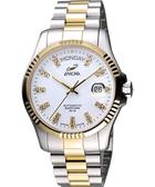 ENICAR 英納格 自動系列璀燦晶鑽機械腕錶-白x雙色版 3169-50-330G
