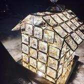 水晶房子臺燈臥室床頭燈創意浪漫公主小臺燈夜燈個性   LannaS