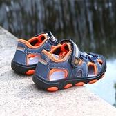 兒童涼鞋男童鞋夏季小學生包頭男孩沙灘鞋中大童P352 快速出貨