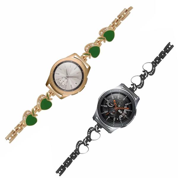 三星 Gear S3 小蘋果錶帶 三星錶帶 金屬錶帶 鑲鑽錶帶