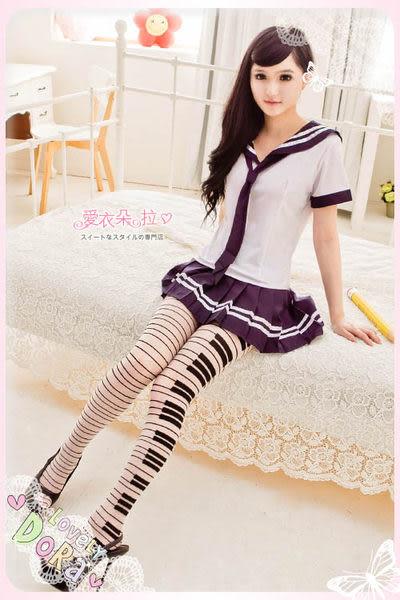 黑白鋼琴絲襪 現貨 美腿造型褲襪 透膚絲襪- 愛衣朵拉