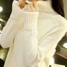 高領毛衣打底衫女士寬鬆內搭秋冬新款2019韓版洋氣套頭針織衫外穿