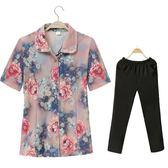 奶奶裝夏裝襯衫60-70歲女裝夏裝套裝短