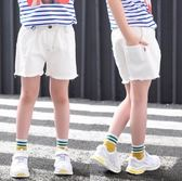 女童短褲外穿夏季薄款小女孩牛仔褲寬鬆童裝兒童褲子夏裝破洞熱褲-十週年店慶 優惠兩天