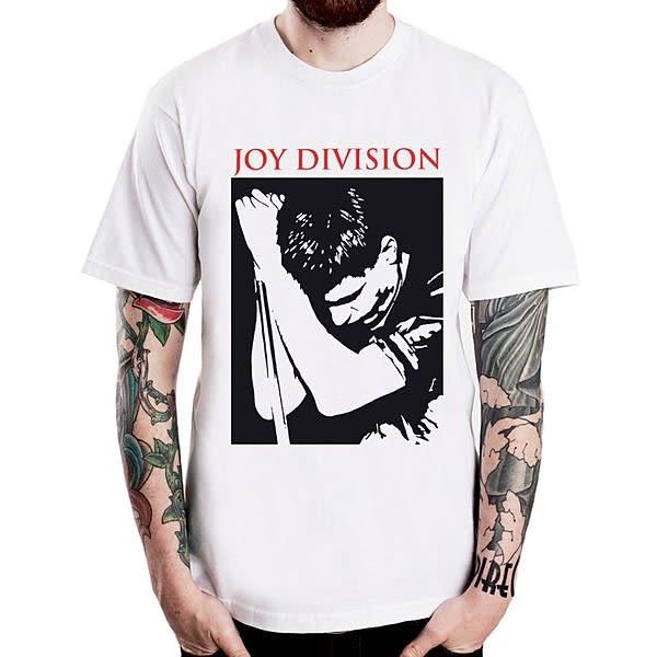 Ian Curtis-stage短袖T恤-2色 JOY DIVISION 人物相片潮流搖滾樂團吉他