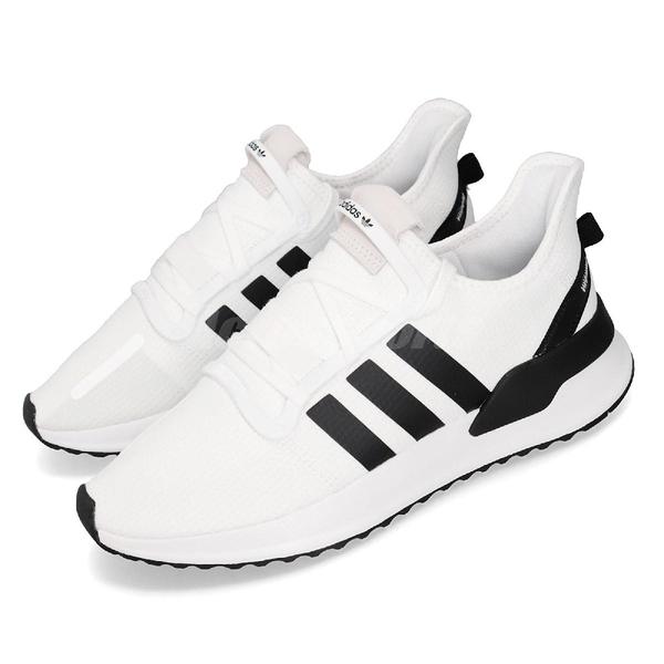 adidas 休閒鞋 U_Path Run 白 黑 男鞋 女鞋 襪套式 復古慢跑鞋 運動鞋 【PUMP306】 EE7344