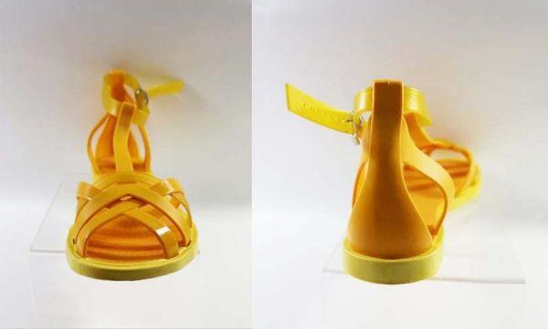 [陽光樂活] 特價  搶便宜  Zaxy(女)- Frozen Sandal 果凍 羅馬涼鞋-ZA8175690073 橘黃