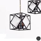 吊燈★典雅神秘 立方玻璃透光吊燈 4燈✦燈具燈飾專業首選✦歐曼尼✦