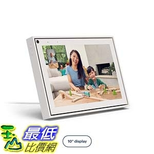 [9美國直購] 智能視頻通話 Facebook Portal Smart Video Calling 10吋 Touch Screen Display with Alexa White