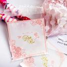 95入 Pink Rose 食品級包裝袋 自黏袋 OPP袋 透明袋 塑膠袋 餅乾袋 西點 飾品袋 封口袋D032