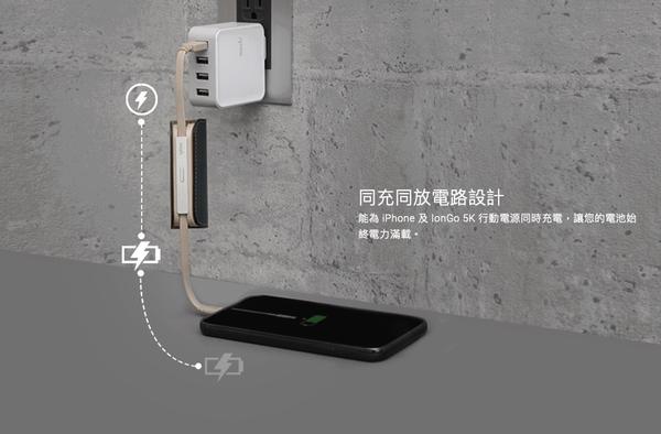 moshi IonGo 5K 帶線行動電源 MFi認證 Lightning 行動電源 5000mAh 帶線行動電源 充電