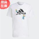 【現貨】Adidas x THE SIMPSONS 男裝 短袖 辛普森家庭 雪球 純棉 白【運動世界】GS6309
