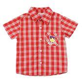 【愛的世界】純棉經典格紋短袖襯衫/6~12歲-中國製- ★春夏上著