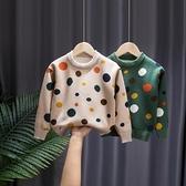 2020   女童毛衣洋氣兒童套頭加絨加厚高領中大童針織打底衫小山好物