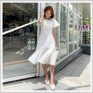 連身裙 蕾絲鏤空魚尾短袖洋裝PS9130-創翊韓都