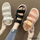 PAPORA三版休閒厚底輕量運動涼鞋KB966黑/白/粉