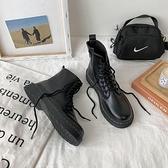 短靴 馬丁靴女夏季薄款透氣英倫風復古平底短靴子單鞋春秋機車 芊墨左岸