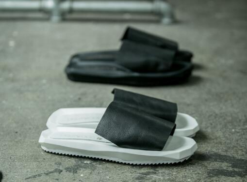 FINDSENSE MD 日系 高品質 男 時尚 淩型鞋底 頭層牛皮 潮鞋 拖鞋