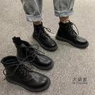 馬丁靴 新款英倫風春秋季瘦瘦單靴ins潮馬丁靴短靴子女潮ins中筒靴 限時優惠