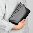休閒男生包包韓版手拿包 軟皮信封包男士手機包 簡約潮流時尚夾包手抓包 商務手拿包大容量手包