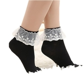 女短襪 中筒襪 白色花邊襪日系蕾絲短襪春秋森女襪子女棉日系襪襪子【多多鞋包店】ps1586