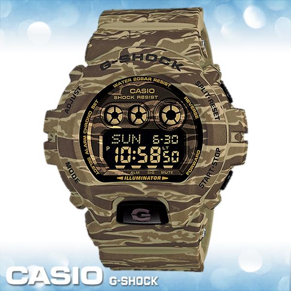 CASIO手錶專賣店 卡西歐 G-SHOCK GD-X6900CM-5D 電子錶 53.9mm大錶徑虎紋迷彩設計 橡膠錶帶