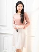 春夏出清3折[H2O]前領花朵縷空繡花設計羅紋顯瘦九分袖針織上衣 - 卡/粉/淺藍綠色 #0671001