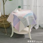北歐棉麻餐桌布正方形圓形桌布方桌茶幾小臺布方巾床頭櫃蓋布 瑪麗蓮安