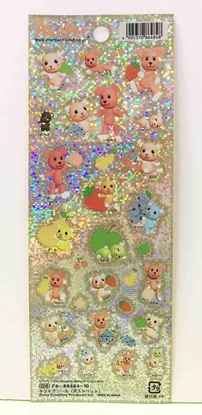 【震撼精品百貨】PostPet_MOMO熊~MOMO熊貼紙-閃亮#86484