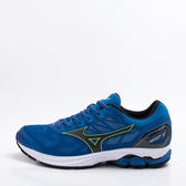 Mizuno  男慢跑鞋 WAVE RIDER 21-藍/黑/黃 J1GC180310