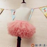 女童紗裙半身裙秋兒童網紗舞蹈裙春夏寶寶蓬蓬短裙【淘夢屋】