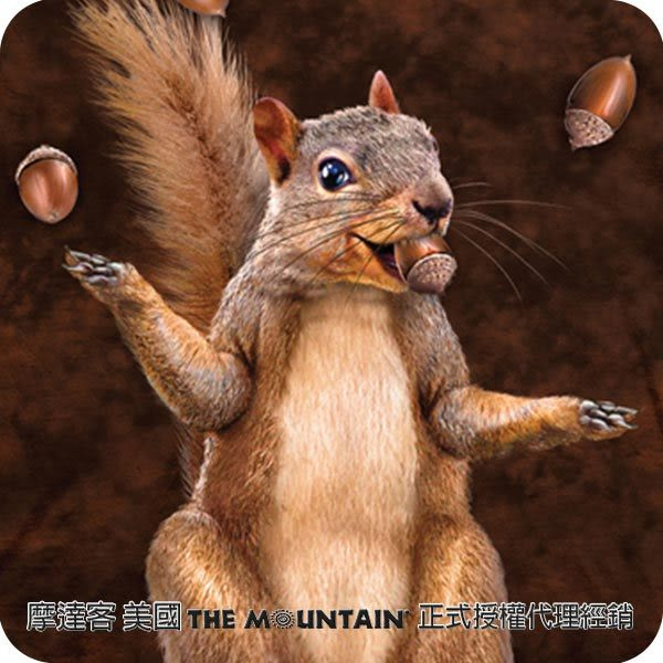【摩達客】(預購)美國進口The Mountain 堅果雜耍 純棉環保短袖T恤(10415045070)
