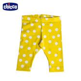 chicco-To Be Baby-內搭長褲-黃底白點