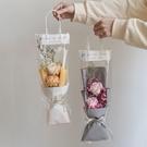 花束 婦女節滿天星干鮮透明手提袋ins單支玫瑰袋子鮮花帶包裝禮物