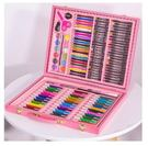 包郵兒童畫筆套裝 爆款kartal150件251件木盒 水彩筆蠟筆(w~)150件