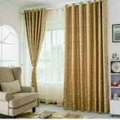 窗簾 艾尚佳簡約現代歐式人造絲提花落地飄窗臥室客廳成品窗簾布料遮光