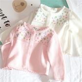 嬰兒春裝外套 針織開襟純棉毛衣