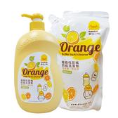 黃色小鴨奶瓶蔬果清潔劑 1瓶1000加1補充包800CC 88228