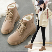 2019秋冬季新款馬丁靴女鞋韓版冬鞋百搭冬天棉鞋網紅加絨雪靴短靴