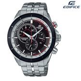 EDIFICE CASIO卡西歐 視距儀 三眼多功能 計時碼錶 男錶 日期顯示 不銹鋼 鐵帶 EFR-561DB-1B