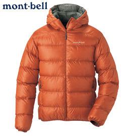丹大戶外【mont-bell】日本LightT Alpine輕量男款800FP保暖防潑水羽絨連帽外套1101361紅陶