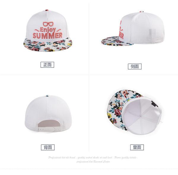 女春夏韓版潮遮陽帽 全棉棒球帽 時尚印花鴨舌帽 可調節平檐嘻哈帽