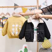寶寶洋氣外套2019秋冬裝新款韓版男童牛仔夾克嬰幼兒百搭加絨上衣