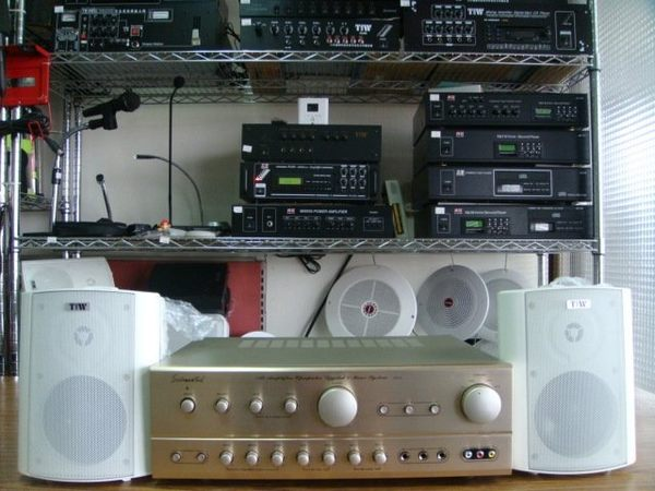 VITECH 廣播綜合擴主機 卡拉OK擴大機 80W*80W含高功率20w喇叭 組合2