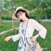 雪紡小披肩女夏季薄款空調衫百搭開衫防曬衣外搭短款配裙子的外套 一米陽光