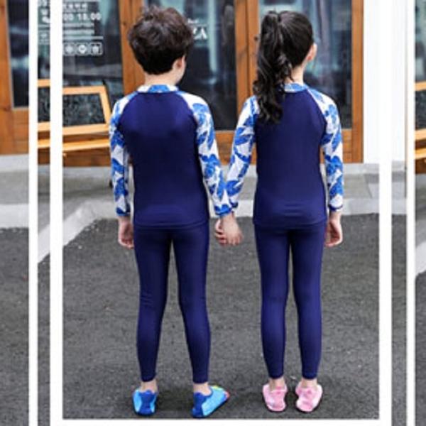 【現貨】梨卡-親子款兒童泳裝【男童+女童】三件套多件式長袖防曬潛水衣水母衣泳衣泳裝CR682CH