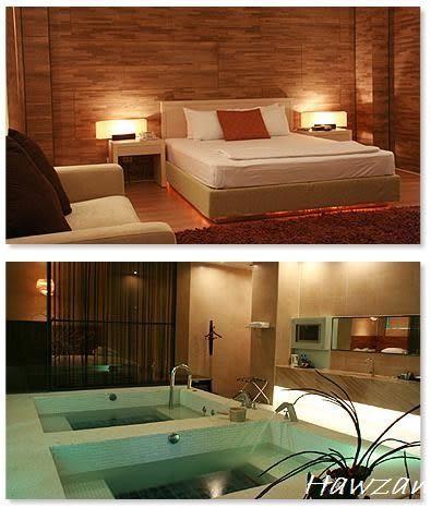 台中日光溫泉會館 雙人主題湯房(冷熱雙池+豪華床)