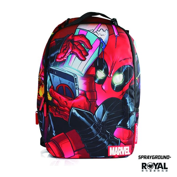SPRAYGROUND 新竹皇家 MARVEL DEADPOOL CRAMMED 死侍爆米花手機 潮流 後背包 NO.H1491