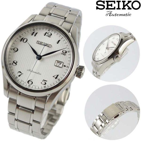 【萬年鐘錶】SEIKO Mechanical 精工23石 機械錶 不鏽鋼帶 銀殼  白面 男錶 40mm 6R15-03N0S(SPB035J1)