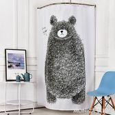韓式卡通熊動物簾子掛簾加厚防水防黴浴簾淋浴衛生間掛簾洗澡拉簾 莫妮卡小屋